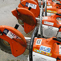 Plant hire - Recipricol saw, angle grinder, forklift York, Leeds, Manchester, London, Midlands, UK